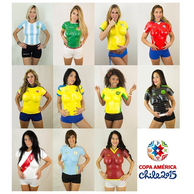 Modelos inmortalizan las camisetas de la Copa América - Espectáculos ... 908f08dd0ecf9